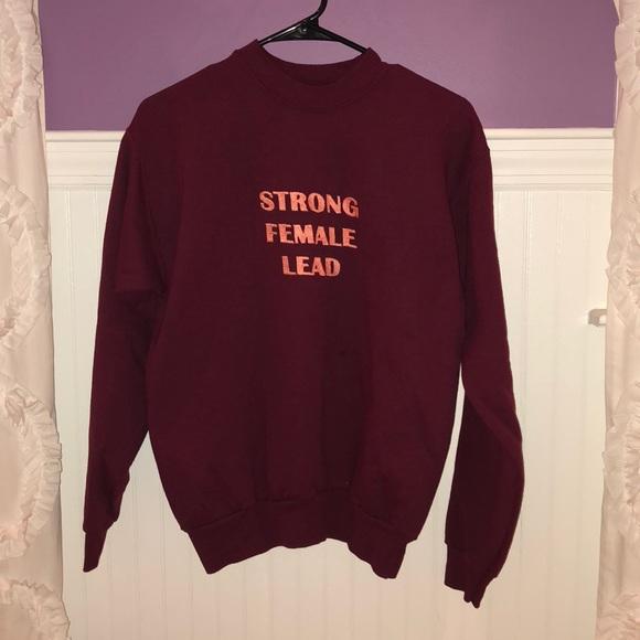 "5ed9da338 BAN.DO X REALM ""Strong Female Lead"" Sweatshirt"